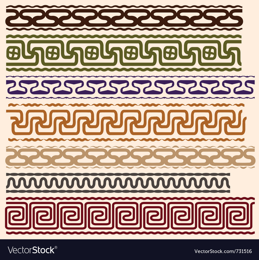 Stylized meanders vector image