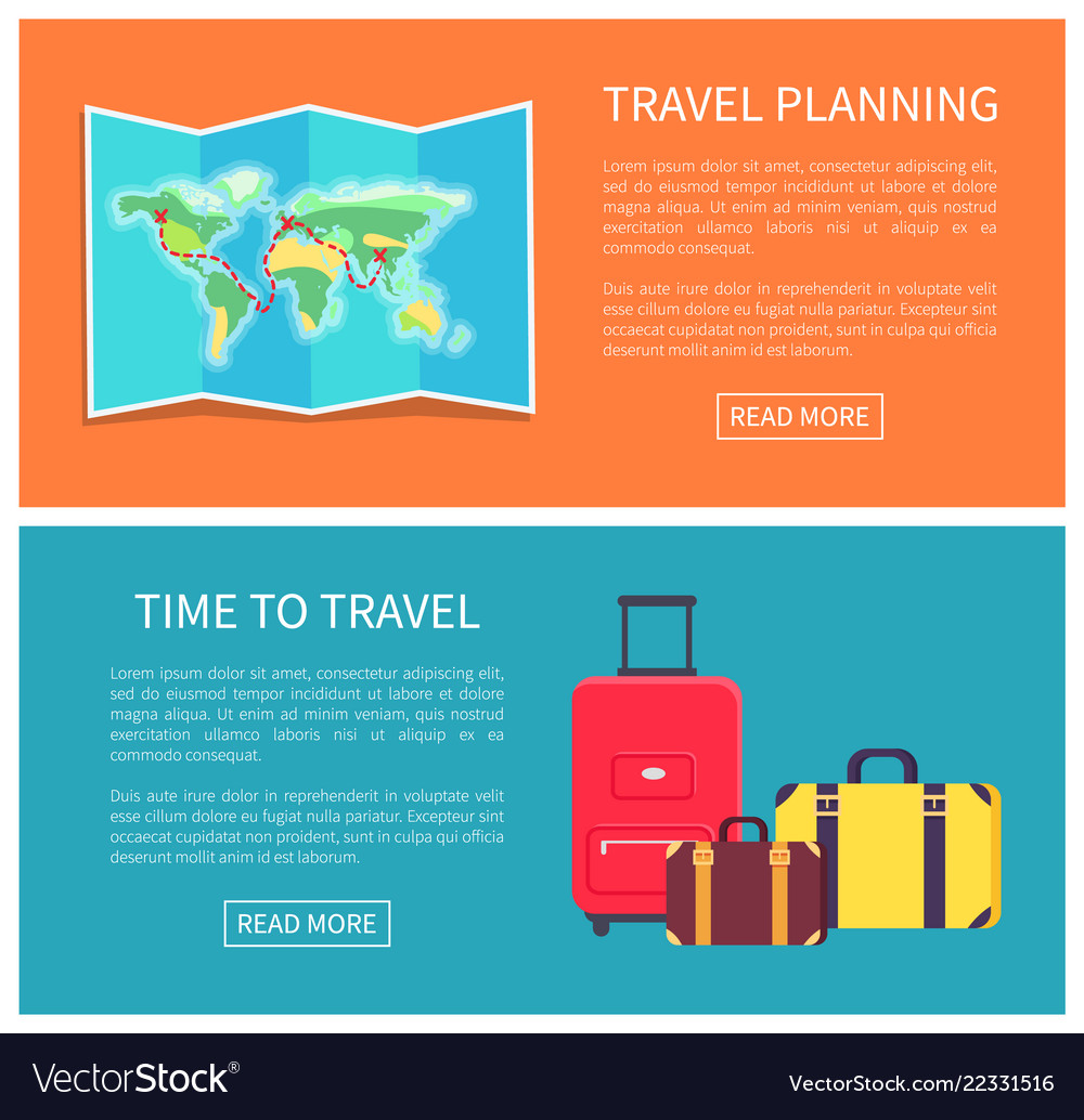 Travel planning web pages set