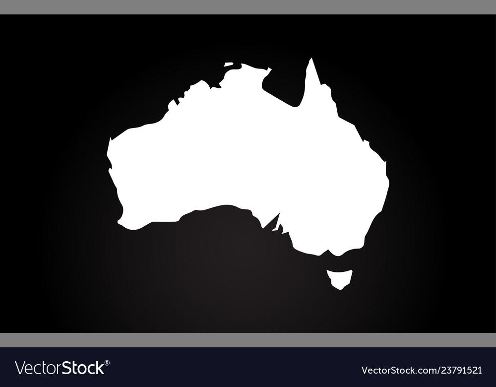 Map Of Australia Logo.Australia Black And White Country Border Map Logo