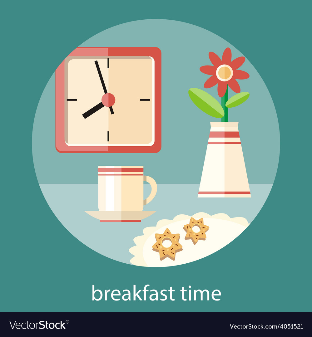 Breakfast time concept