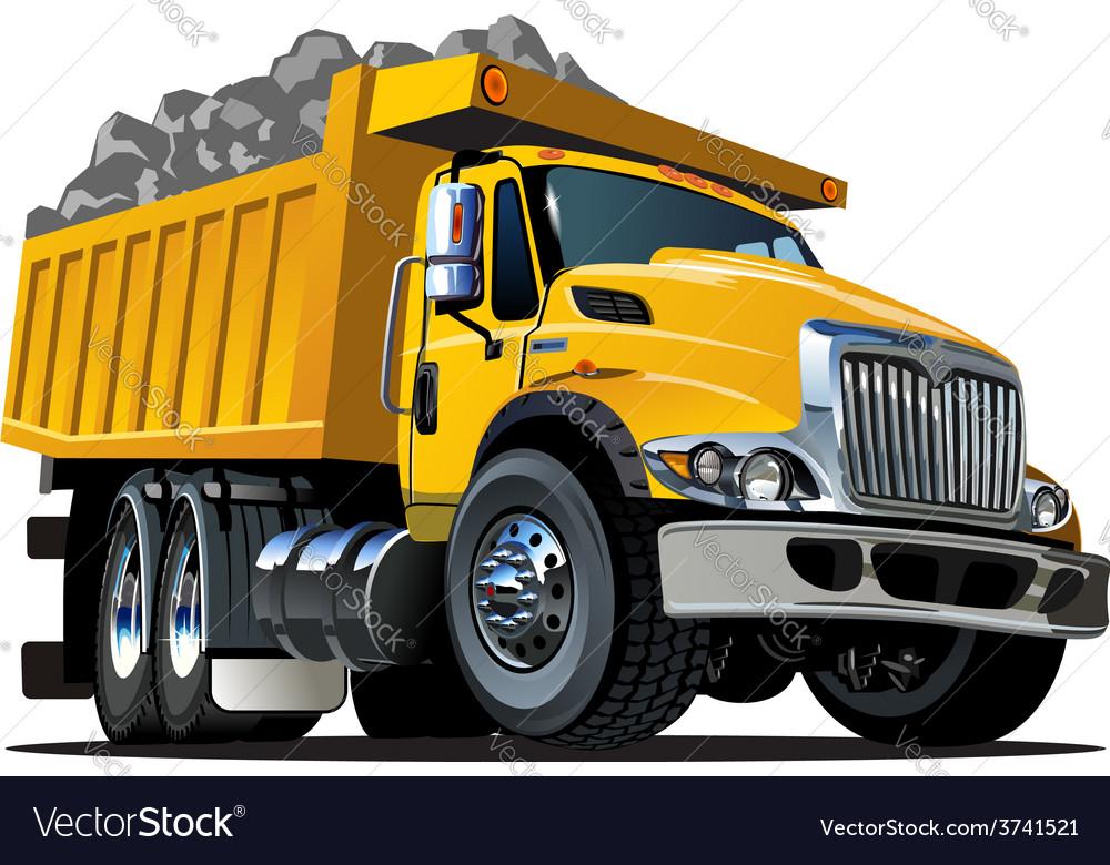cartoon dump truck royalty free vector image vectorstock rh vectorstock com vector cartoon dump truck cartoon dump truck pics