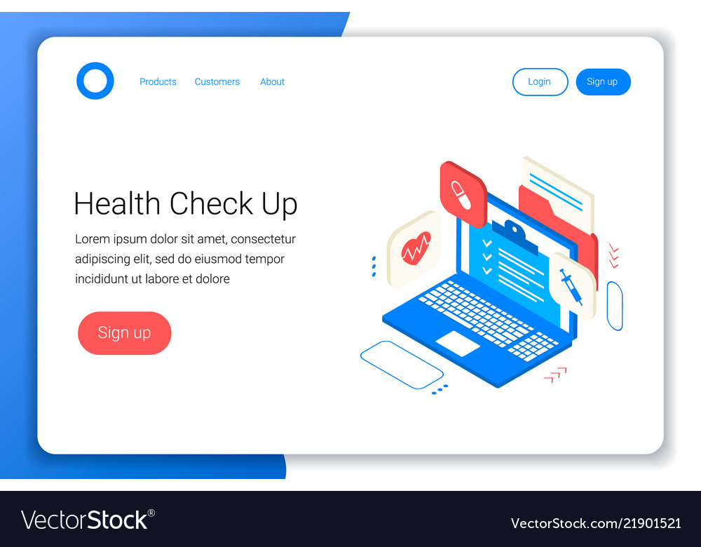 Clinic health check up concept