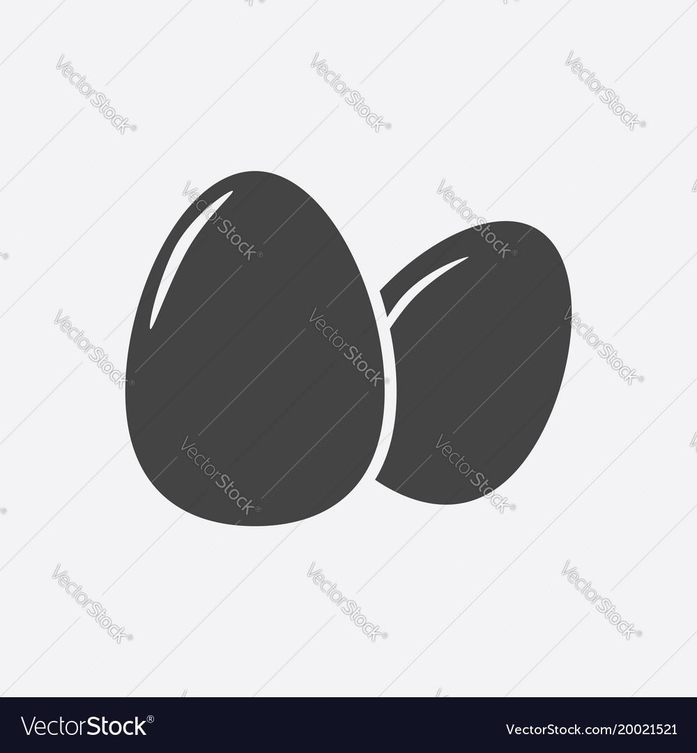Egg icon flat on grey background