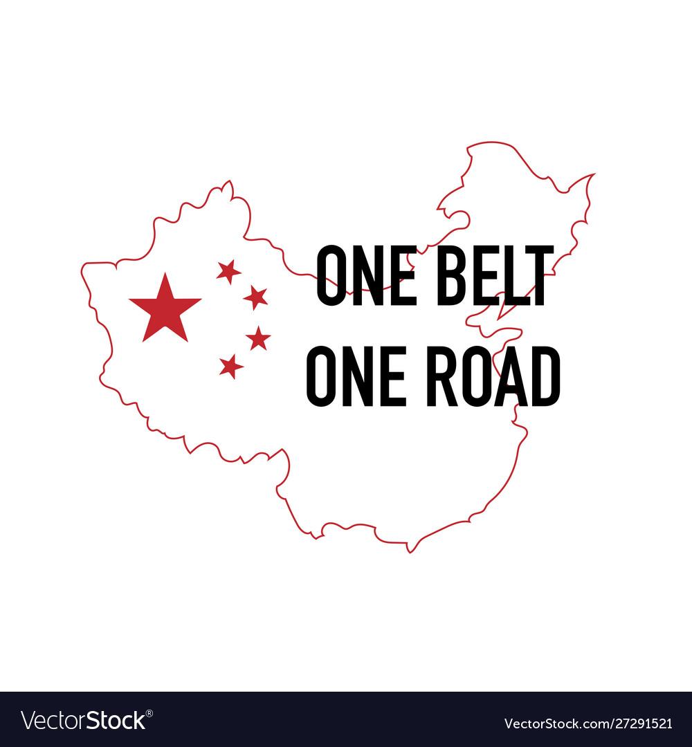 Obor China One Belt One Road Initiative Design Vector Image