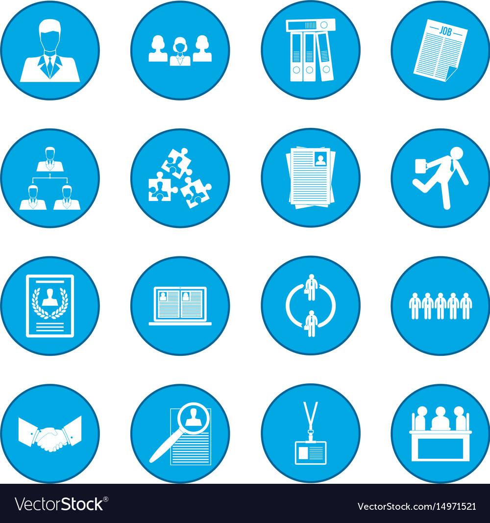 Office teamwork icon blue