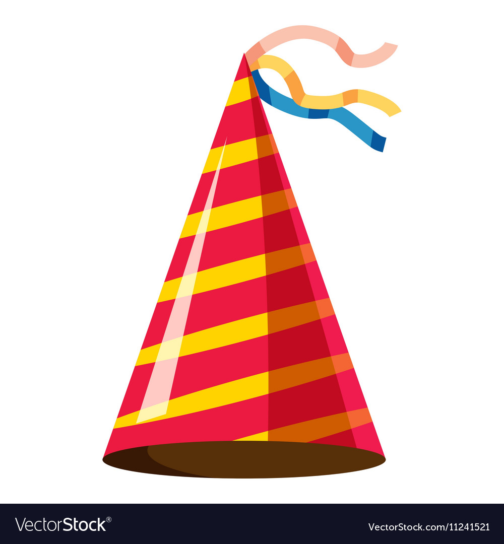 party hat icon isometric 3d style royalty free vector image rh vectorstock com party hat icon png party hat icon vector