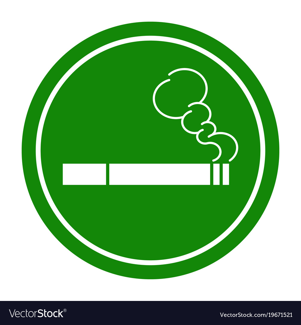 Sign smoking area
