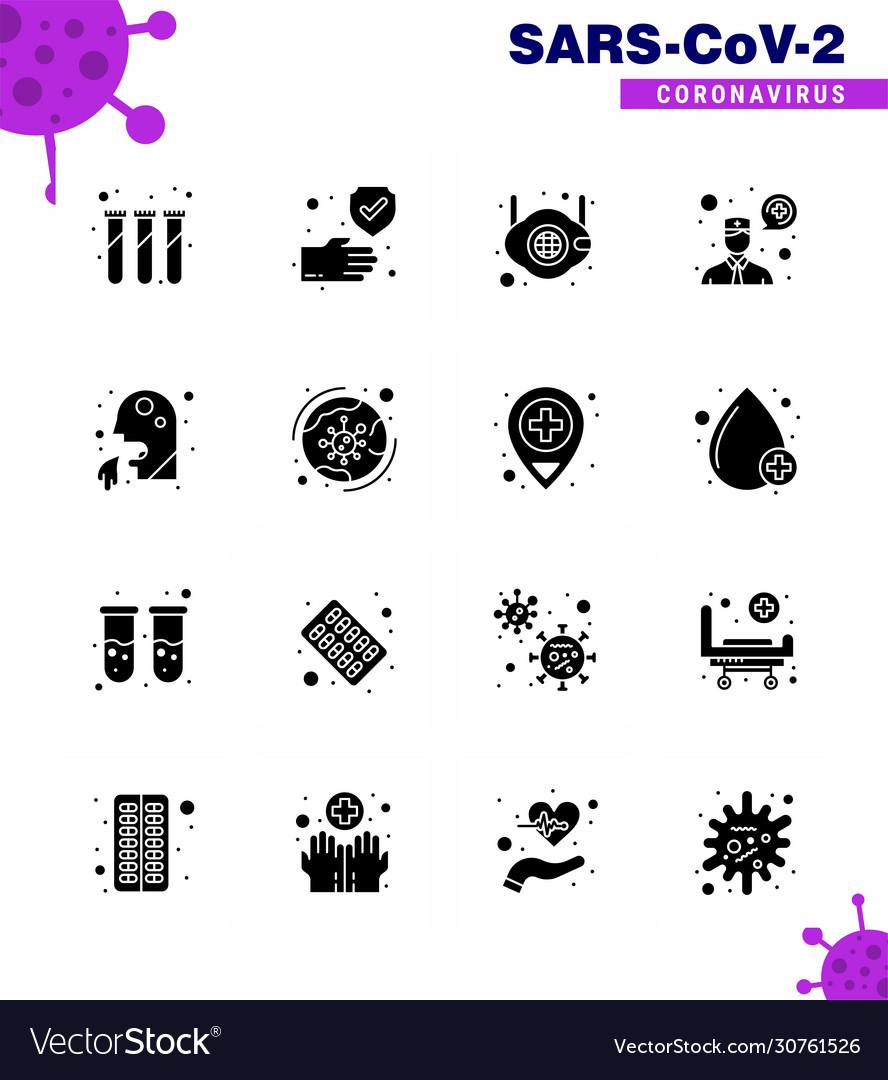 16 solid glyph black coronavirus covid19 icon