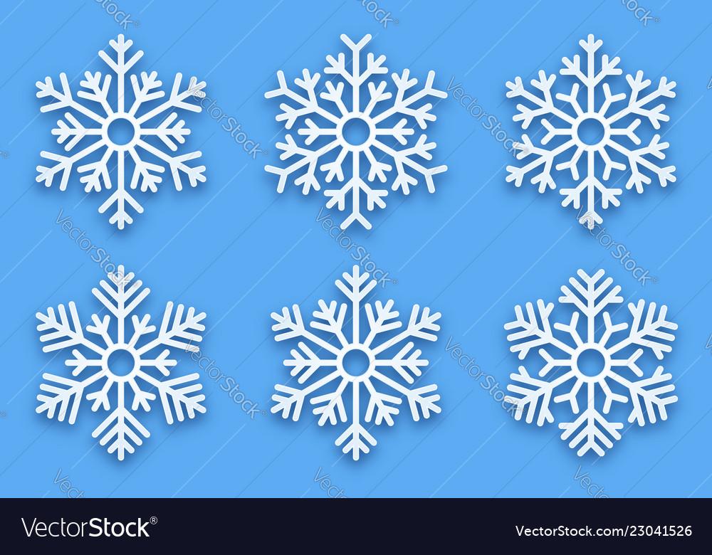 3d papercut decorative snowflakes