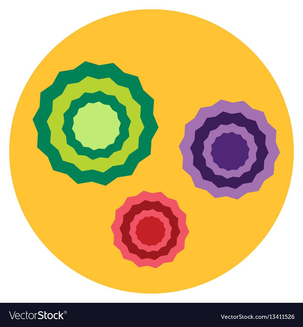Bacteria virus microscopic isolated microbes icon