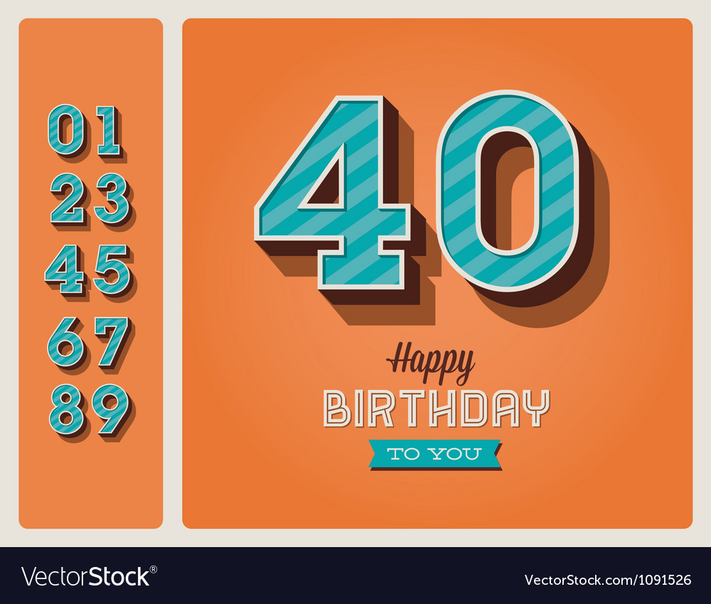 Birthday card editable vector image