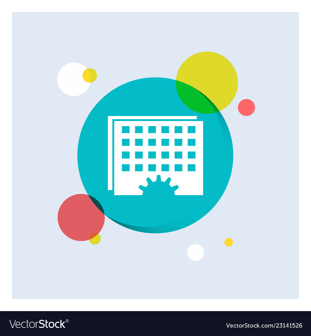 event management processing schedule timing white vector image