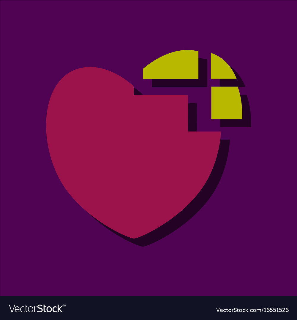 flat icon design collection heart disease in vector image