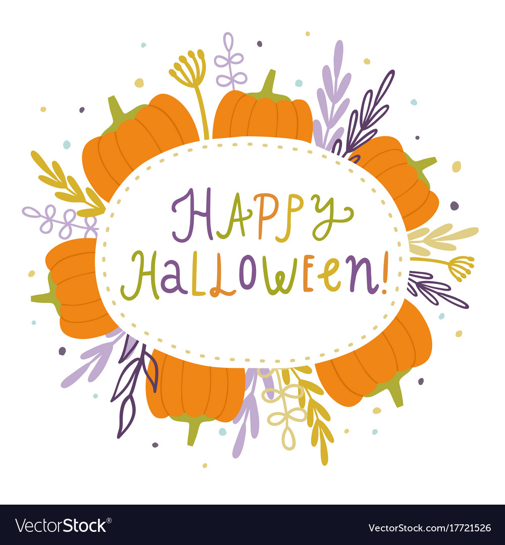 Happy halloween cute card