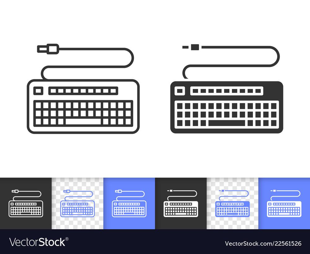 Keyboard simple black line icon