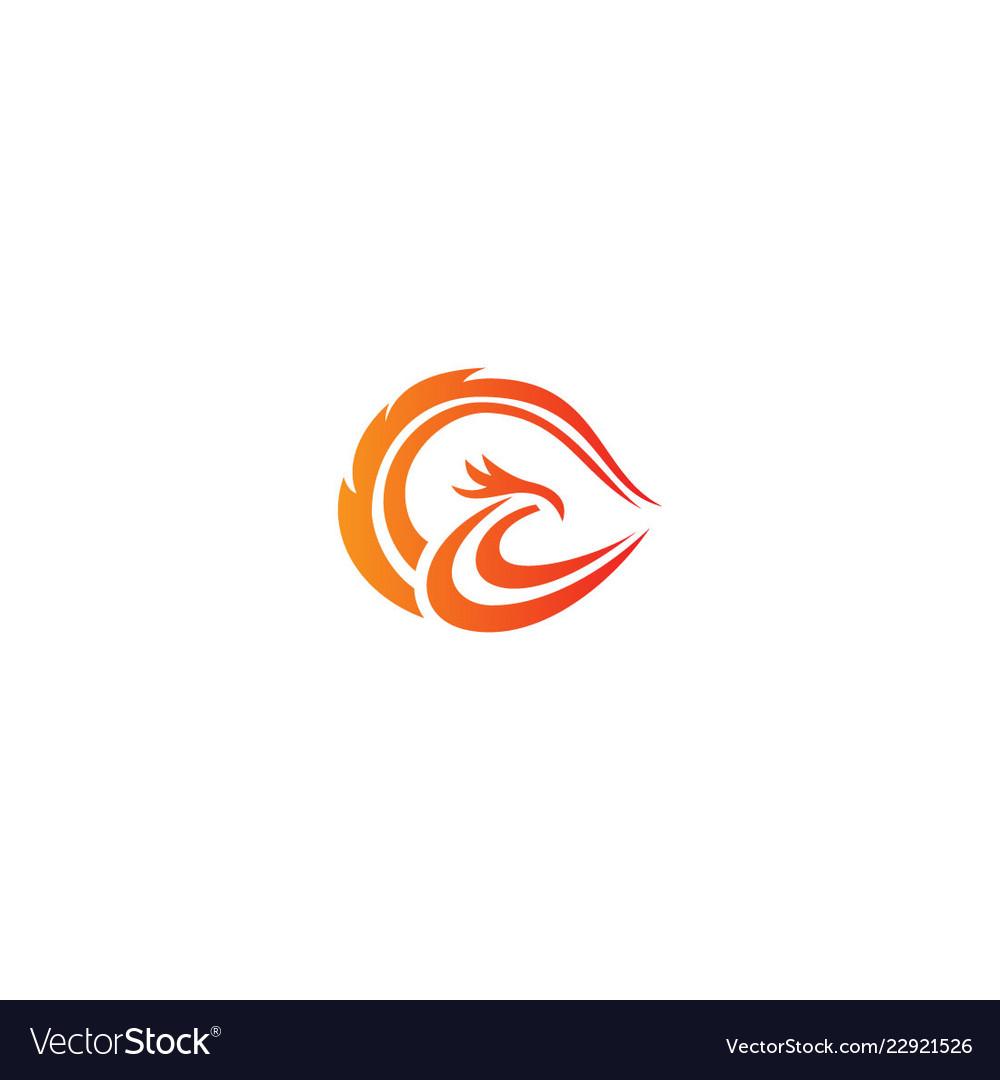 Phoenix bird wing logo