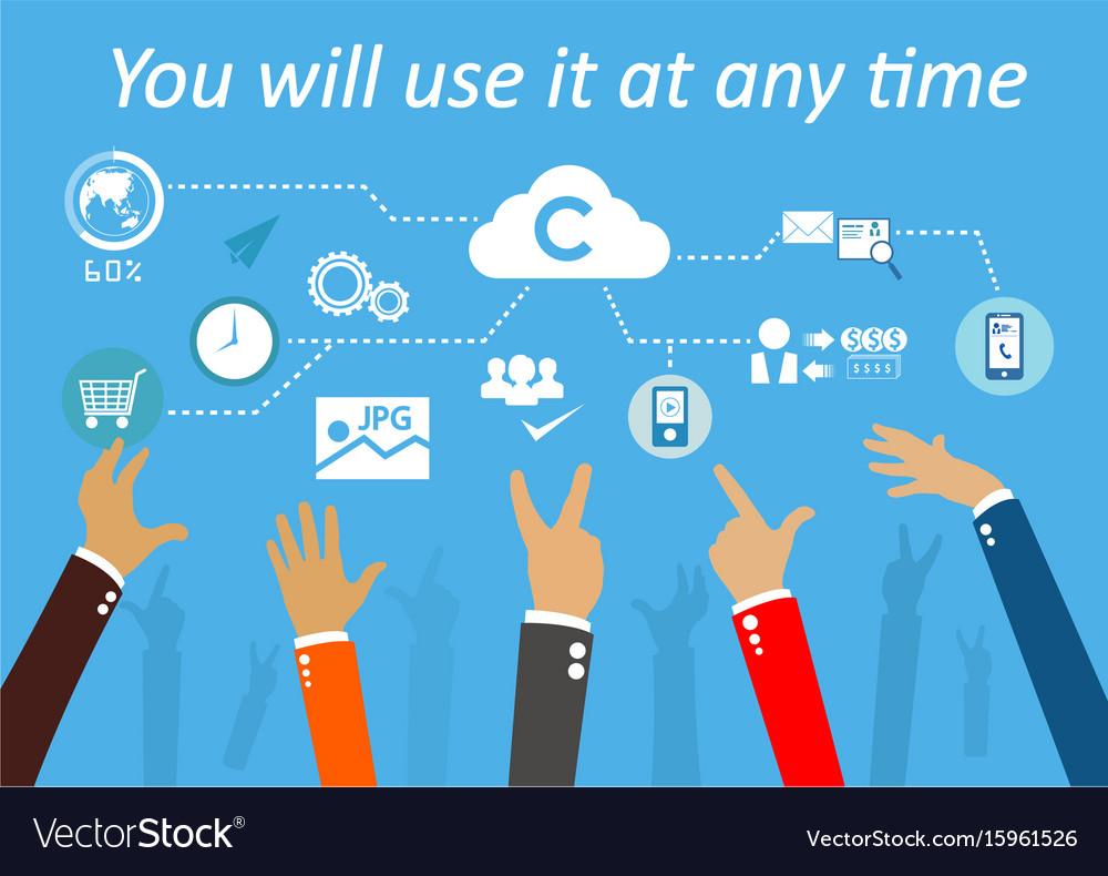 Technologysystem cloud vector image