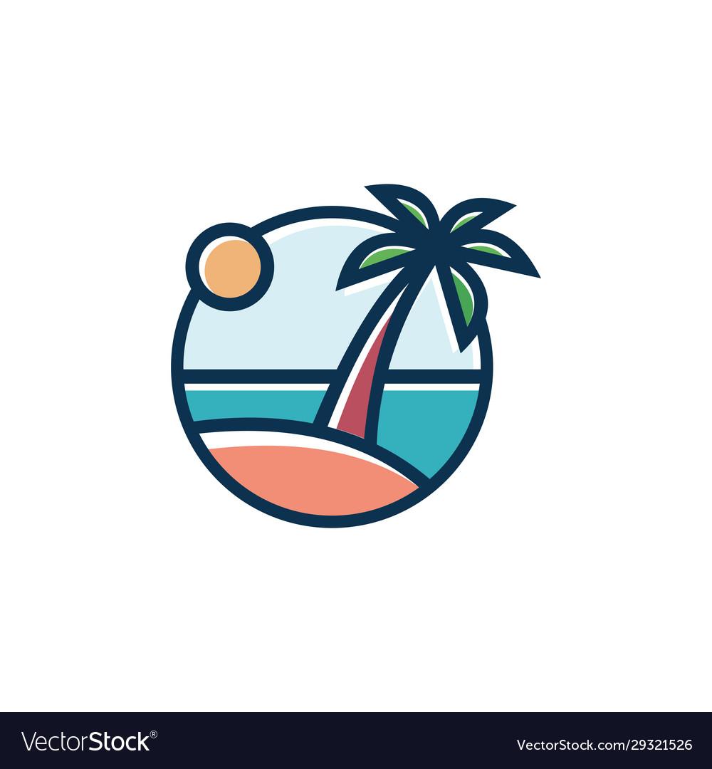 Tropical beach sunset landscape premium