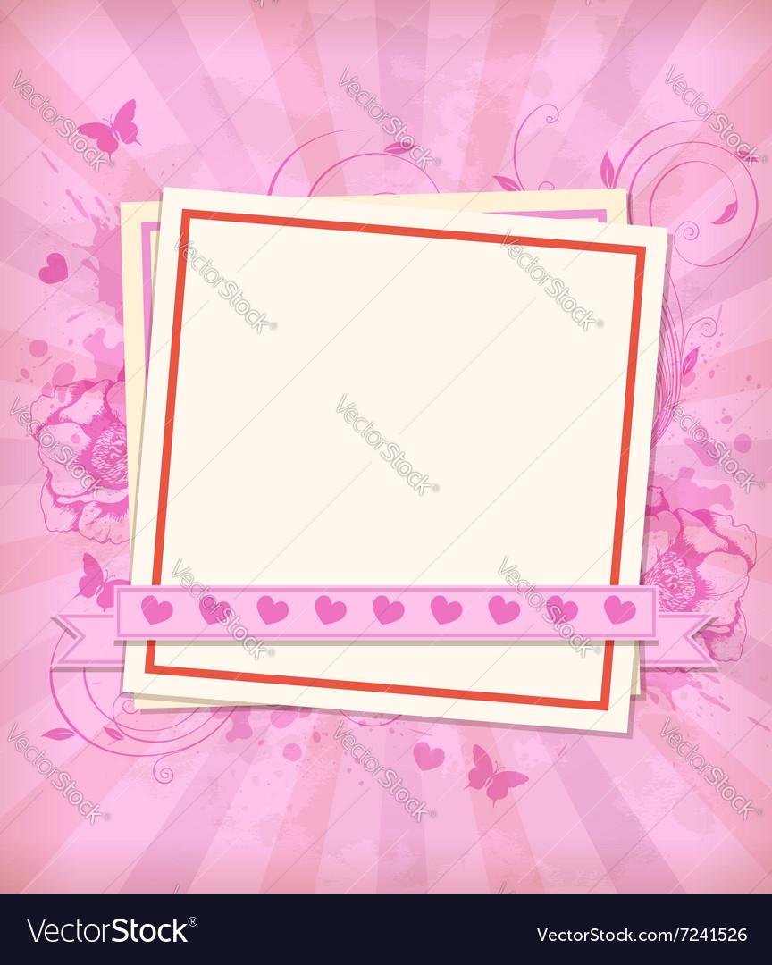 Vintage pink background