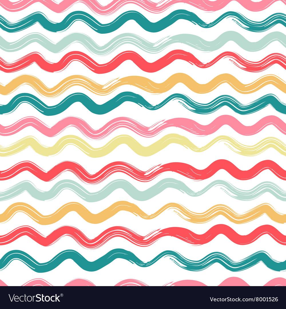 Wavy striped seamless pattern