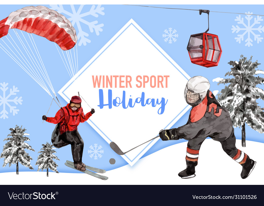 Winter sport frame design with parachute ropeway