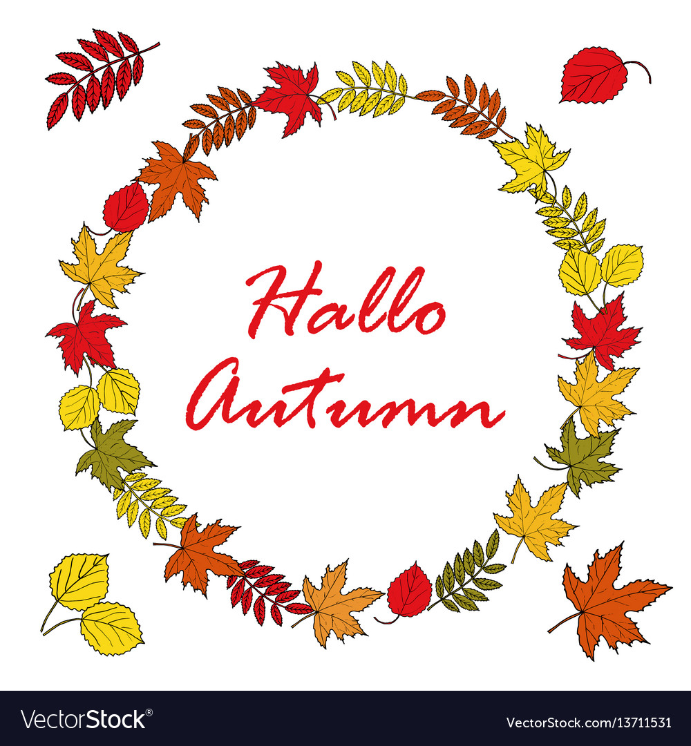 Autumn poster background with bright maple leaves vector image