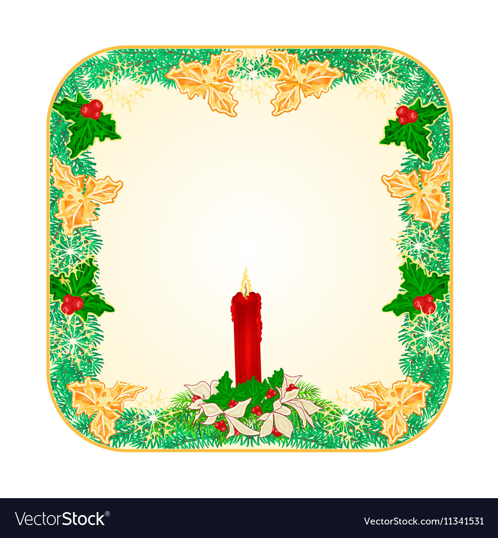 Banner square button Christmas Spruce