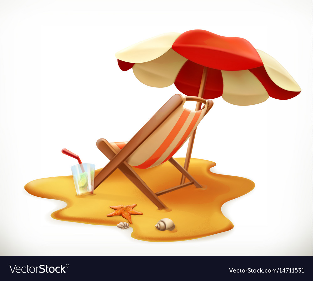 Astonishing Beach Umbrella And Lounge Chair 3D Icon Ocoug Best Dining Table And Chair Ideas Images Ocougorg
