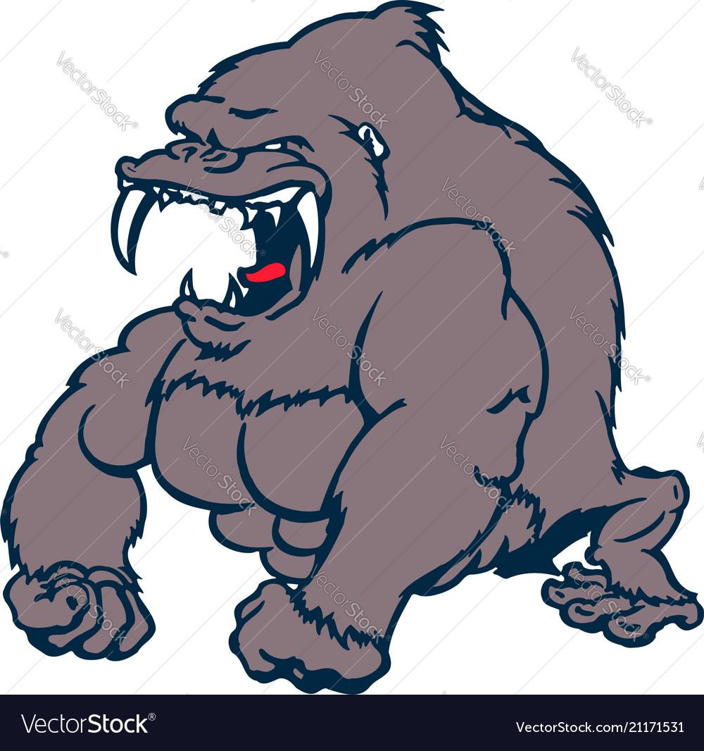 Beast strong gorilla cartoon character