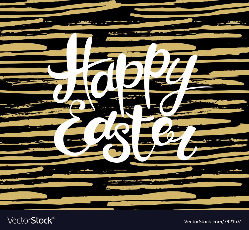 Happy Easter lettering Typographical Background