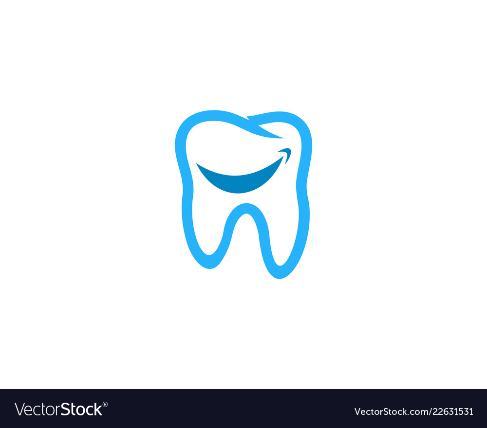 Smile Dental Logo Icon Design Royalty Free Vector Image