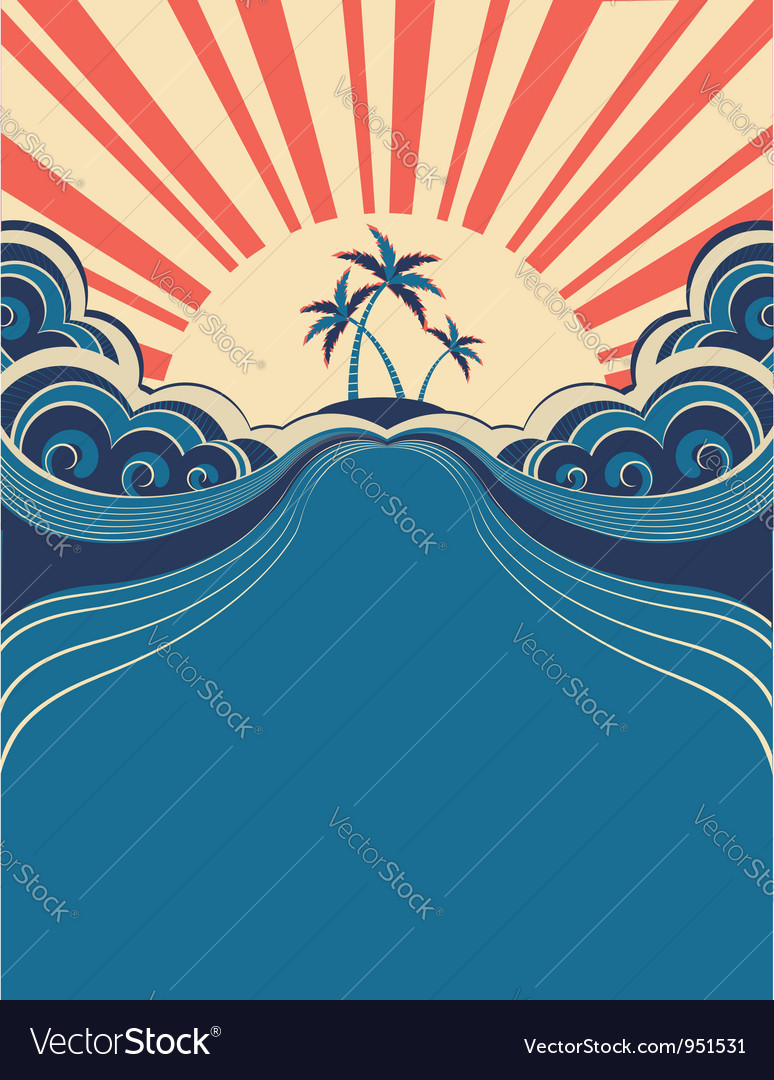 tropical poster background royalty free vector image