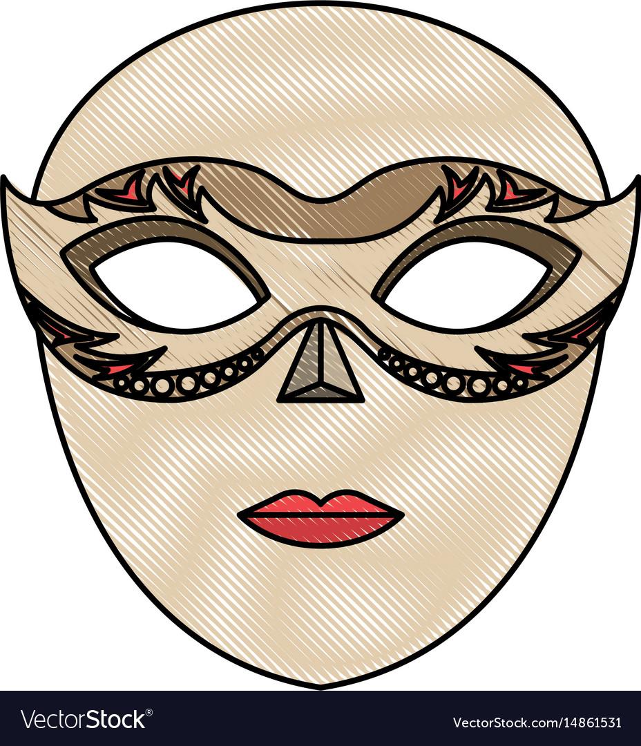 venice mask icon royalty free vector image vectorstock