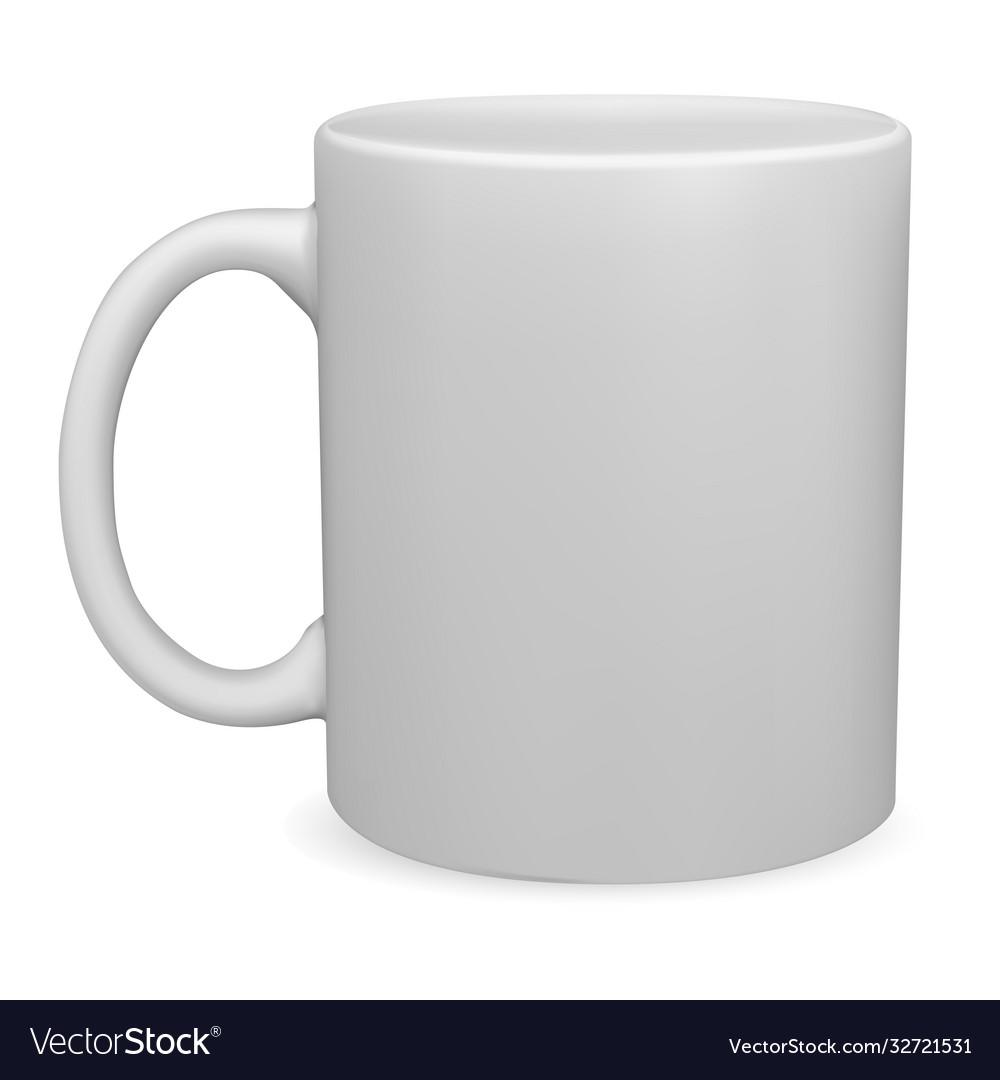 White mug mockup isolated coffee cup blank