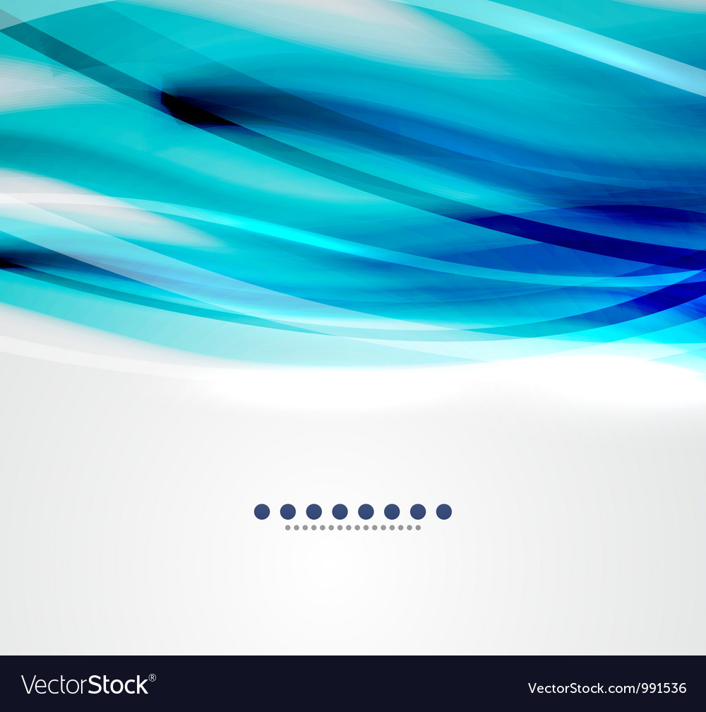 Blue wave business template vector image