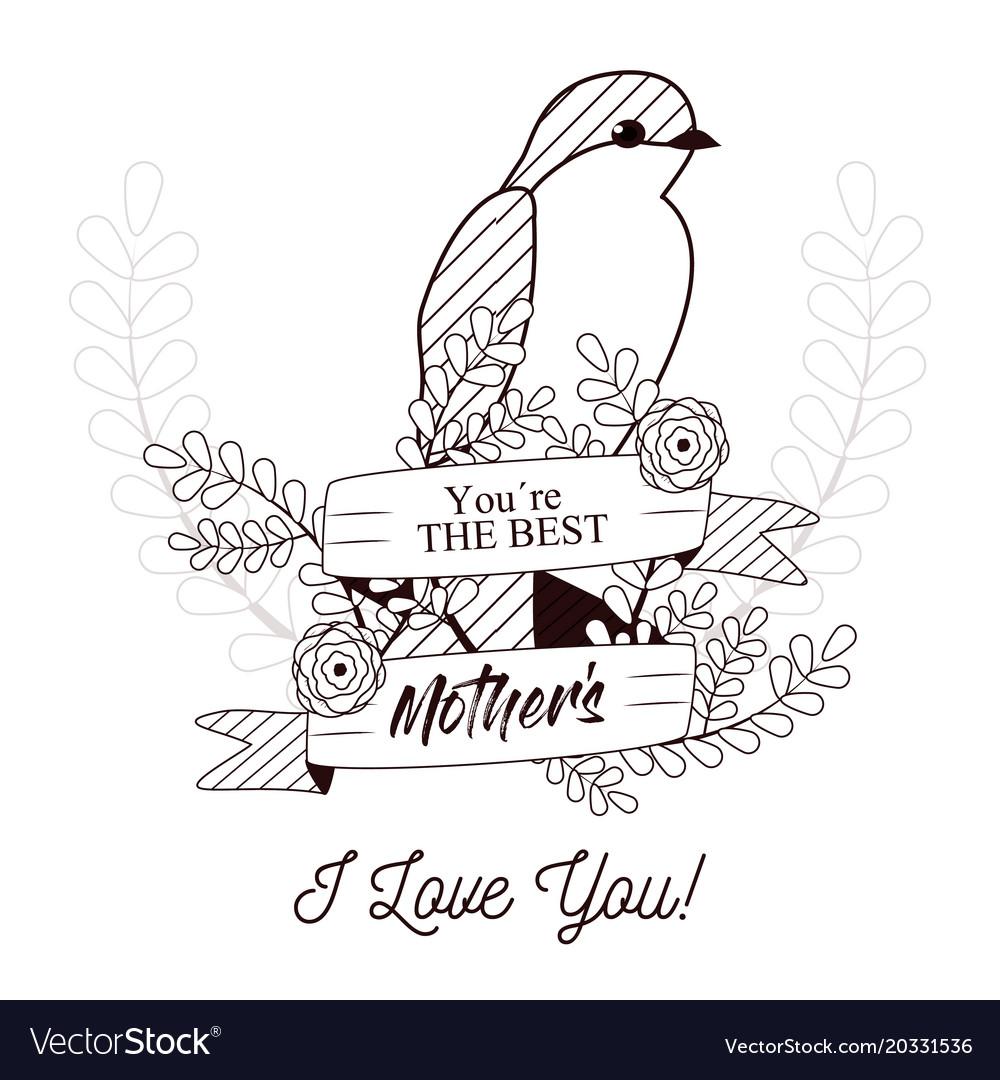 Mothers Day Card Pretty Birds Mum
