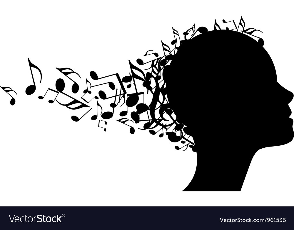 Musical head vector image