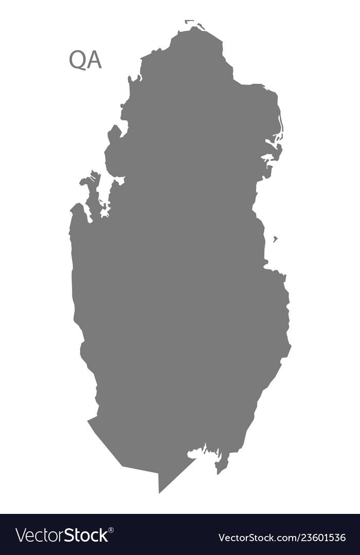 Qatar map grey