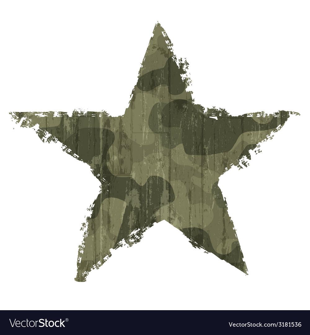 Star abstract khaki