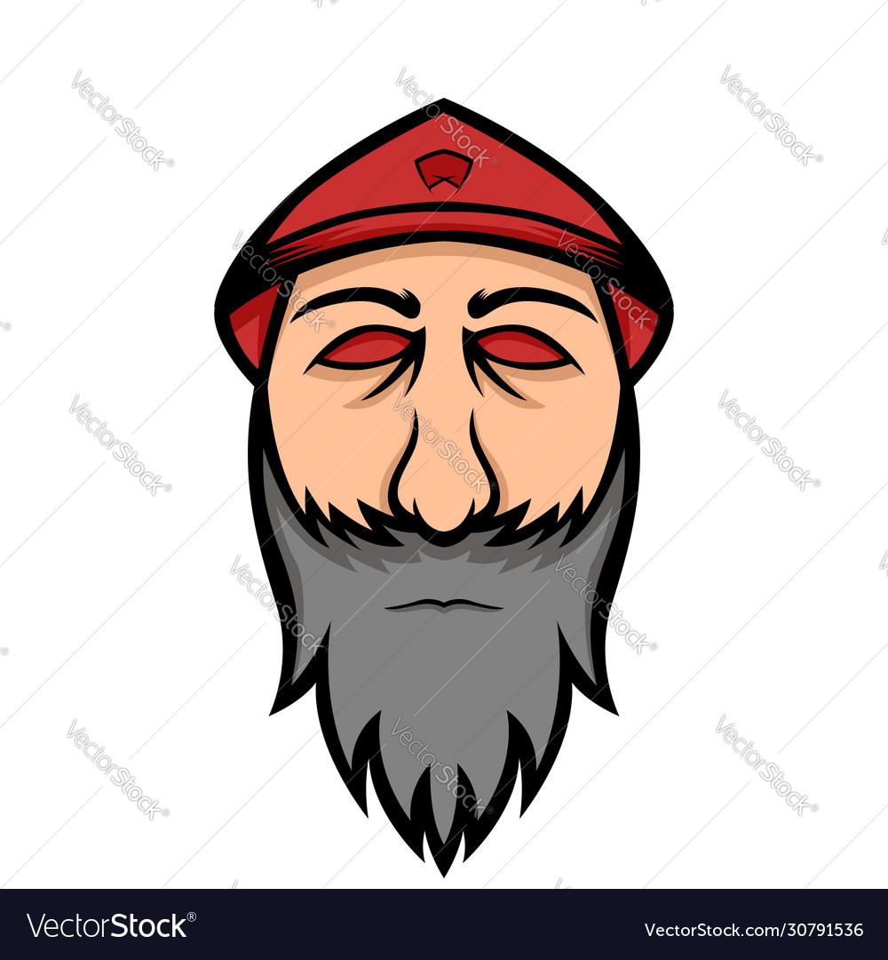 Traditional farmers hat mascot logo