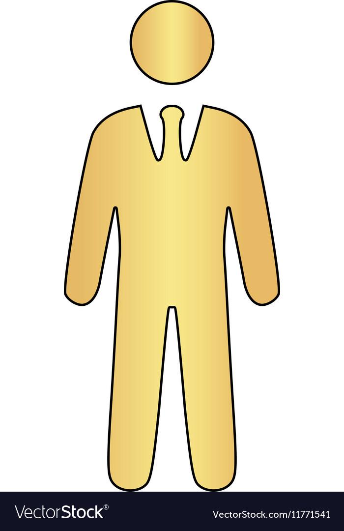 Businessman computer symbol