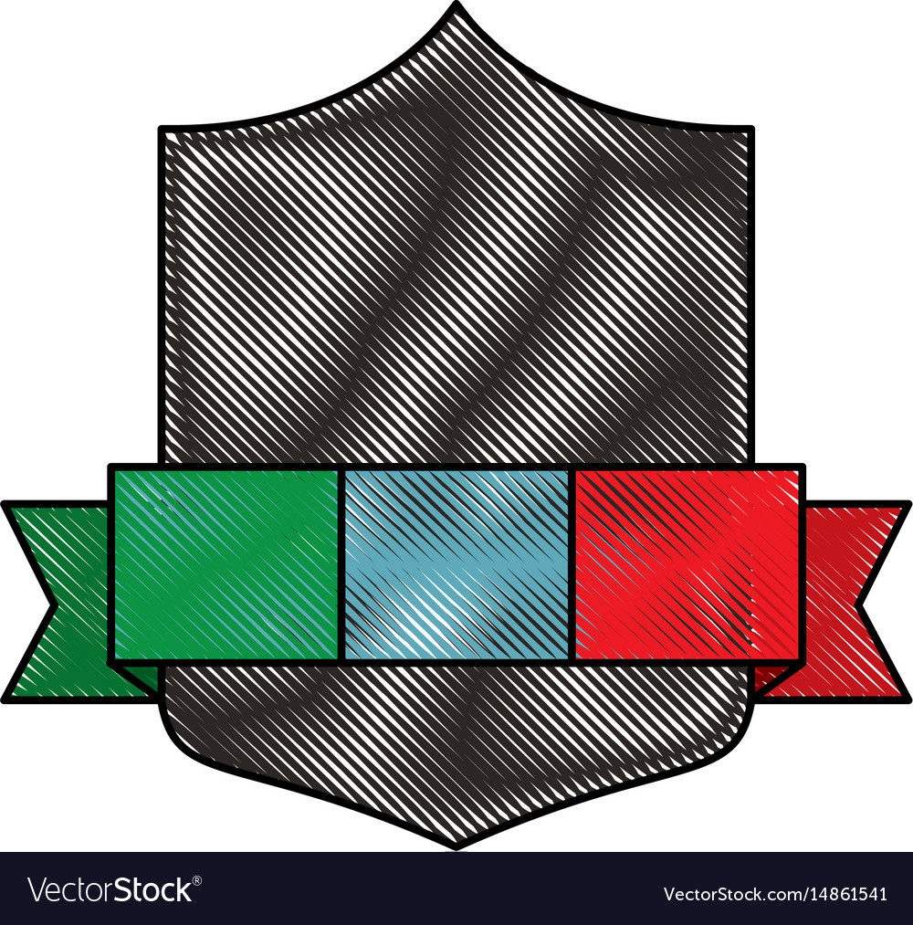 Emblem with italy flag