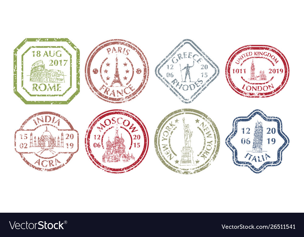Famous places on stamp