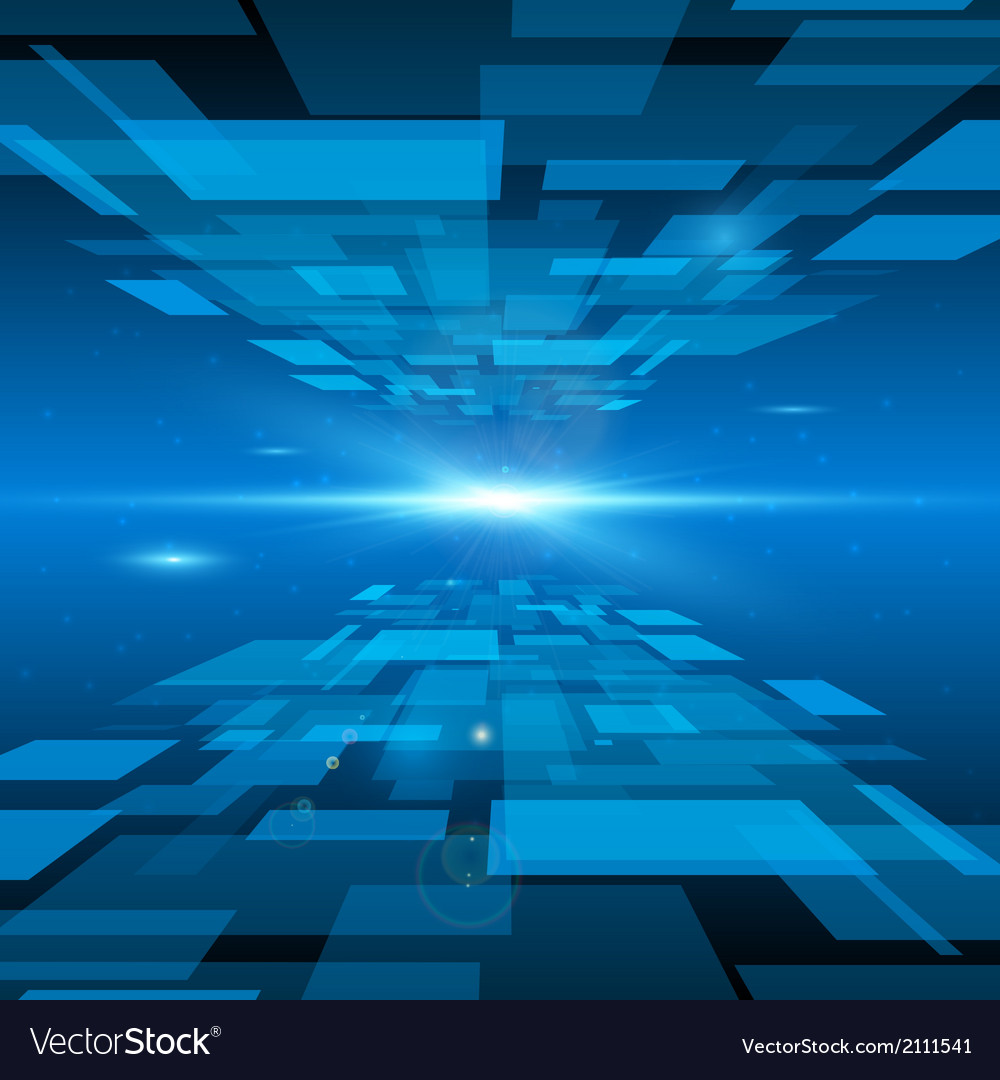 Futuristic abstract space background vector image