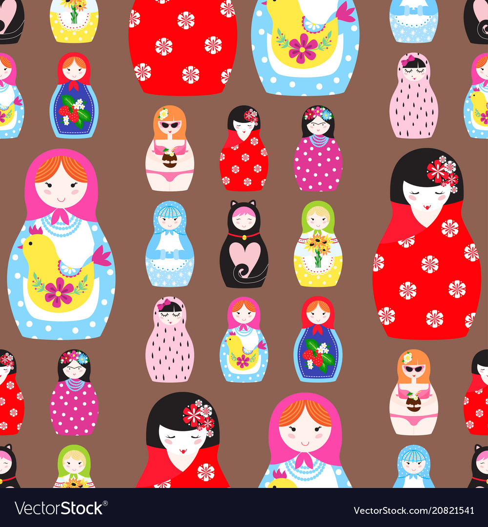 Matryoshka traditional russian nesting doll