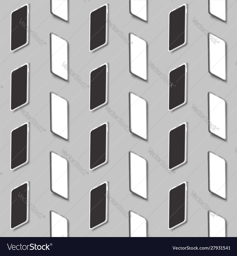 Modern phones seamless pattern