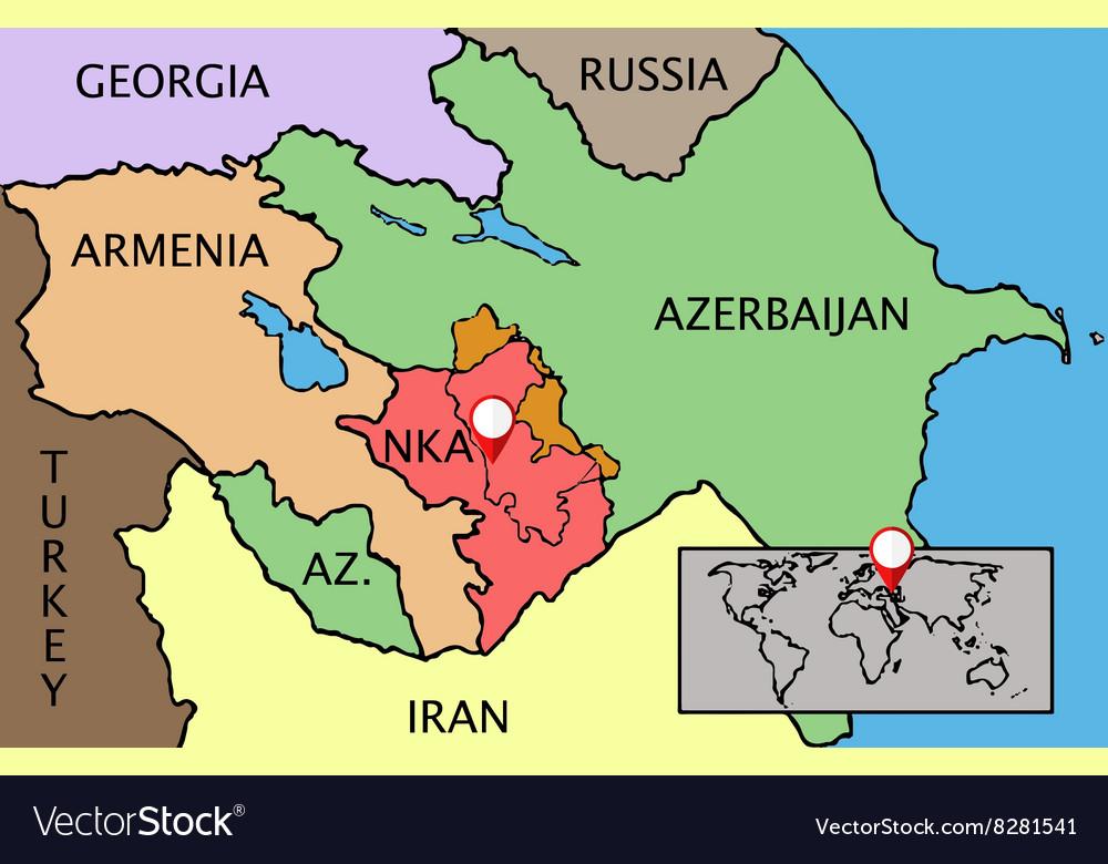 Nagorno Karabakh Republic map