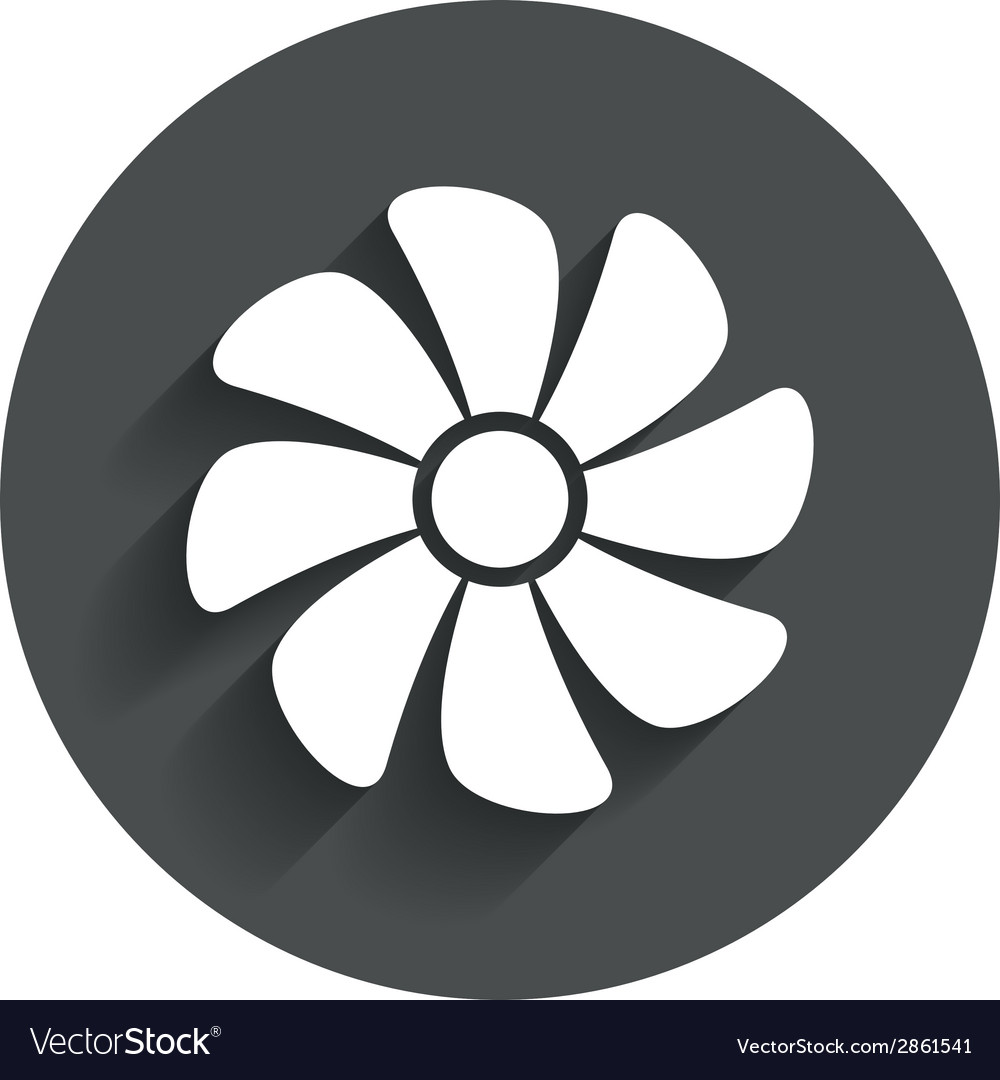 Ventilation sign icon Ventilator symbol vector image