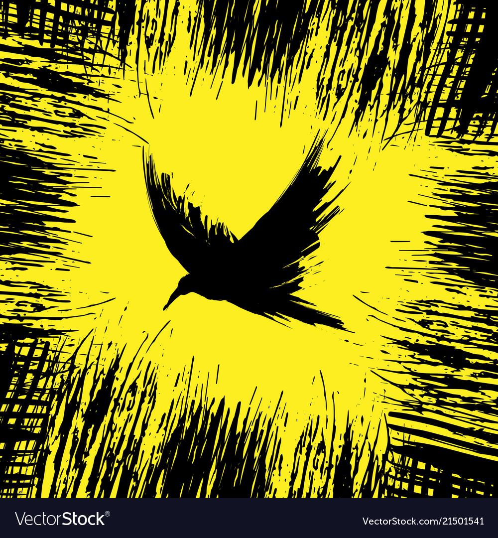 Yellow raven background