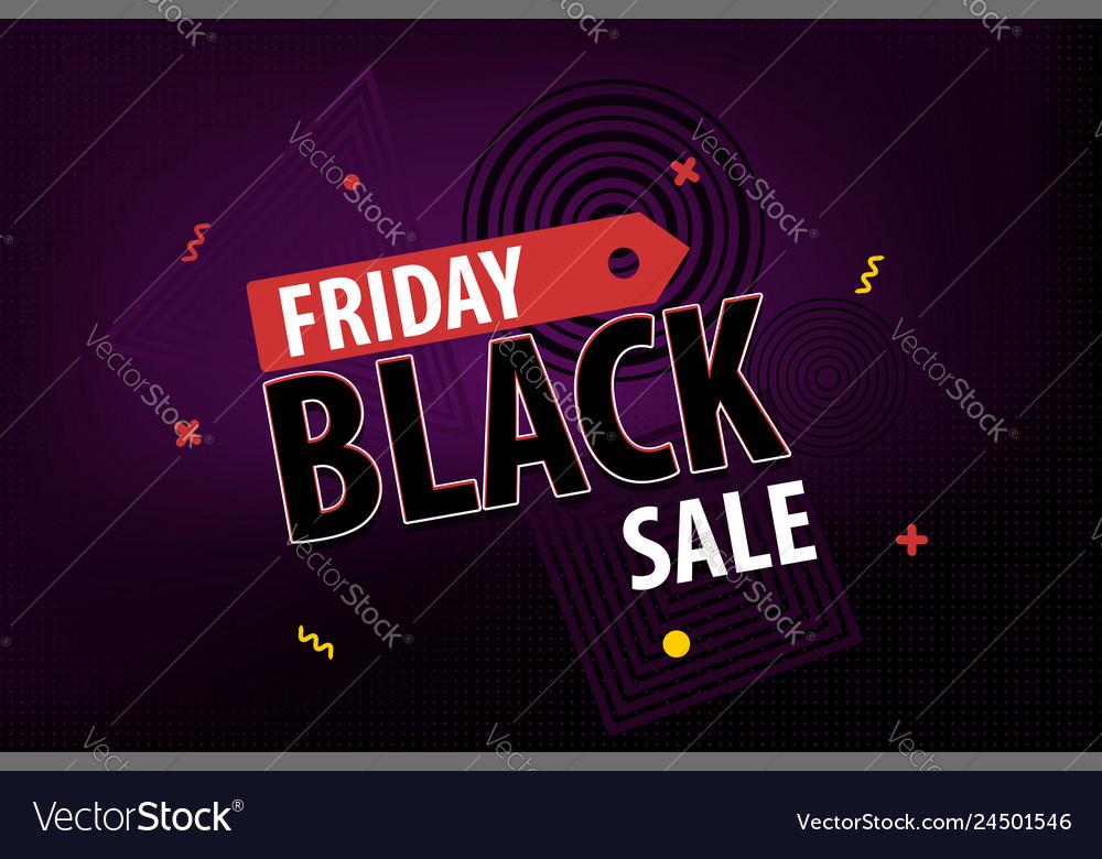 Black friday dark sale red promo tag